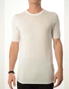 T-shirt blanc à col rond thom krom