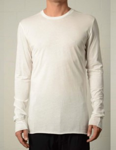 White bi-material long sleeves tee thom krom