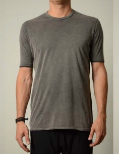 THOM KROM Washed-effect tee in anthracite grey