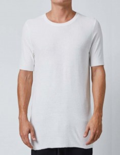 T-shirt blanc en éponge bords francs thom krom