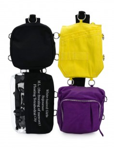 Raf Simons x Eastpak yellow and purple backpack