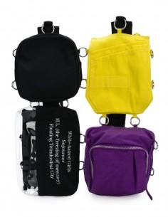 Raf Simons x Eastpak yellow and purple backpack