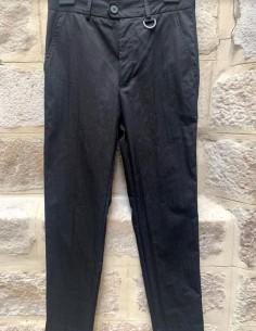 Skinny black pants with buckle detail isabel benenato men