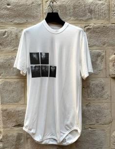 Long t-shirt blanc imprimé JULIUS