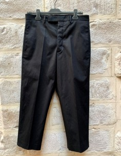 "Cropped ""Easy Astaires"" black pants with pleats"