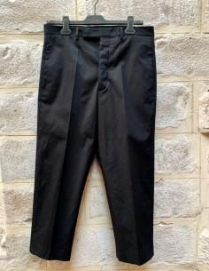 """Pantalon cropped """"Easy Astaires"""" à plis noir RICK OWENS"""