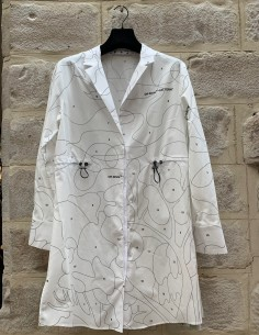 Puzzle shirt-dress off-white
