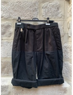 RAF SIMONS Bi-material shorts with straps