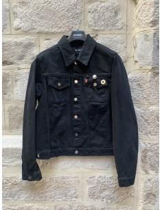 RAF SIMONS Denim jacket with multi pins