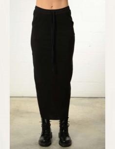 Black maxi skirt with back slit thom krom women
