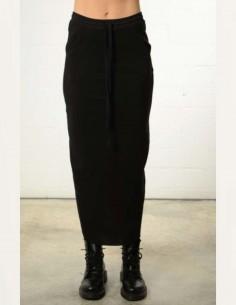 Jupe longue noire avec fente au dos thom krom femme