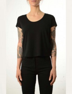 Black cropped tee shirt thom krom women