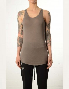 Brown long tank top racer's back thom krom women