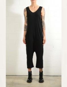 Black harem-cut overalls thom krom women