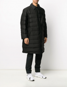 Black long bi-material puffer jacket adidas y3