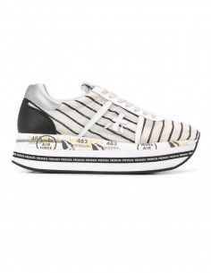 "PREMIATA Striped ""Beth"" sneakers with platform heel for women"