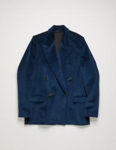 acne studios Veste longue en velours côtelé bleu