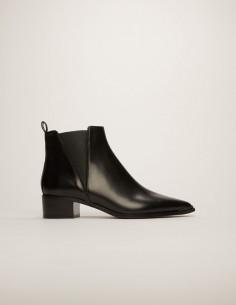acne studios Boots Jensen en cuir lisse noir