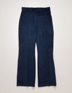 acne studios Pantalon cropped en velours côtelé bleu