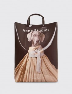 acne studios Bajer dog-printed tote bag