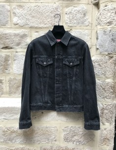 Veste en jean noire vintage