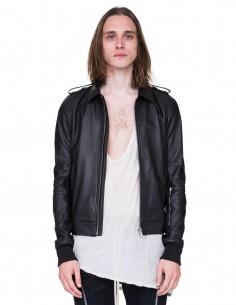 Blouson cuir noir zip