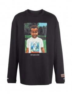 T-shirt Baby HERON PRESTON manches longues noir