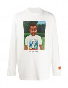 T-shirt Baby HERON PRESTON manches longues blanc