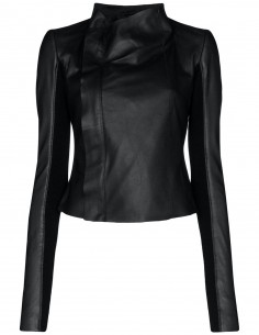 Rick Owens Leather Jacket for DRKSHDW