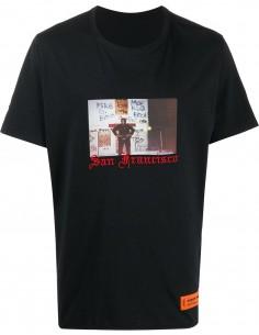 T-shirt HERON PRESTON dad heron manches courtes noir