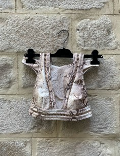 ZIMMERMANN two-piece nude snake print swimsuit