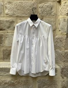 Chemise blanche à fronces Comme des Garçons Homme Plus