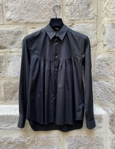 Comme des Garçons Homme plus black shirt with gather