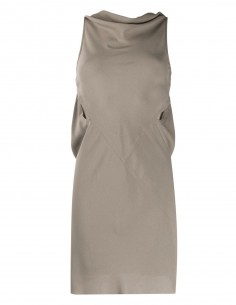"RICK OWENS ""Skorpio"" sleeveless and backless brown satin dress"