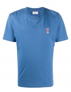 Ami Tee Shirt bleu petit logo