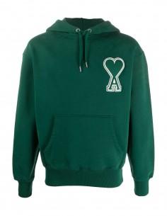 Green hoodie in cotton AMI PARIS big green heart