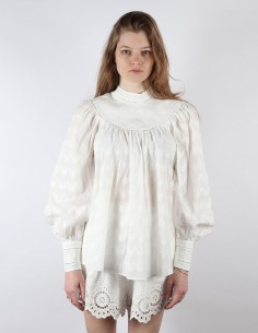 ZIMMERMANN white cotton blouse