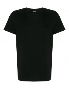 Black tee shirt logo chest BALMAIN