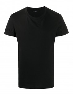 Black BALMAIN cotton t-shirt