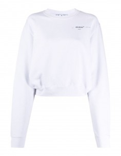 "OFF-WHITE ""Meteor Palette"" cropped white sweat-shirt"