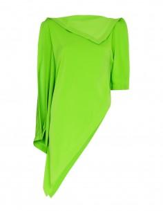 Top drapé asymétrique vert MM6