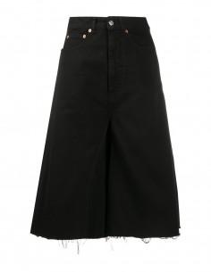 Jupe culotte en denim avec bande satin côté MM6