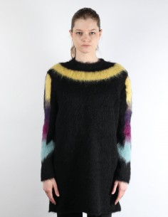Black mohair sweater with cross print on the back OFF-WHITE