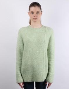 Pull en laine à col rond vert clair Acne studios