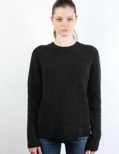 Pull en laine à col rond noir acne studios