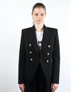 Iconic black 6-button BALMAIN jacket