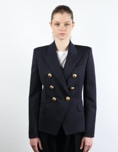 Iconic blue 6-button BALMAIN jacket