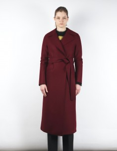 HARRIS WHARF London burgundy bathrobe style coat