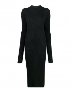 Black pullover dress with slit back