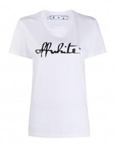 White tee shirt black script OFF WHITE